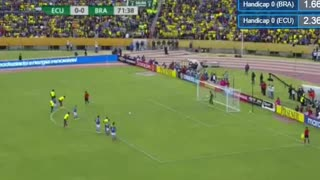 Neymar Goal Ecuador vs Brazil - Video