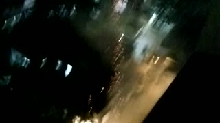 Fireworks In Front Of Window At 10th Floor - Video