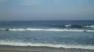 BELMAR BEACH - Beach Side/Ocean Front 360 Pan View (NJ/New Jersey shore scene) - Travel Tourism Vacation - Video