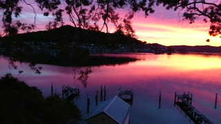 Stunningly beautiful winter sunset in Australia - Video