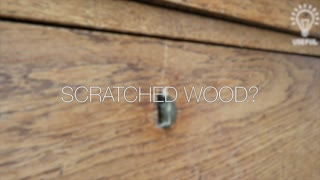 How to instantly remove scratches from wood - Video