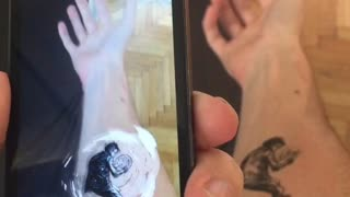 Comic artist brings his tattoo to life! - Video