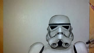 Incredible 3D Speed Drawing Of Star Wars Stormtrooper - Video