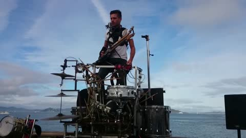 One-man band rocks out with many instruments