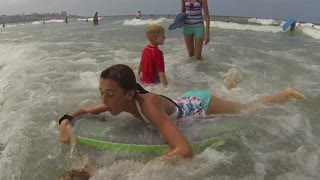 Little Sister Gets Run Over at the Beach - Video