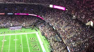 Saints booed for kneeling - Video