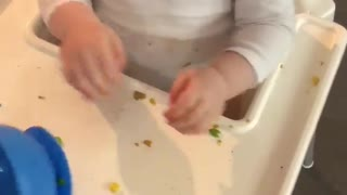 Boy's Food Bowl Sticks to His Face