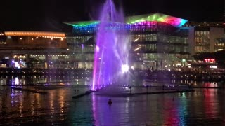 VIVID Sydney Water fountain show