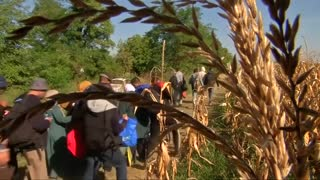 Serbia-Croatia border row intensifies - Video