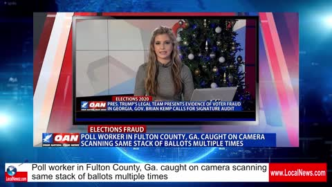 Fulton County Pol workers Scan Ballots multiple times