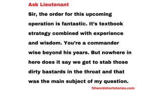Ask Lieutenant