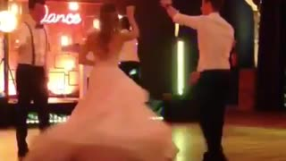 lovely romantic wedding party dance - Video