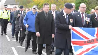 Veterans march in Newport protest - Video