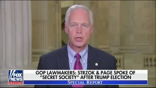 Sen Ron Johnson on alleged 'secret society' - Video