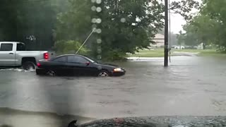 Pascagoula, Mississippi flash flooding - Video
