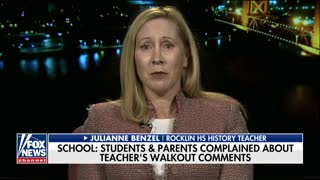 California teacher feels she was 'targeted' when placed on leave for questioning student walkouts - Video