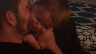 Daddy tickles baby girl so much it'll make you laugh!  - Video