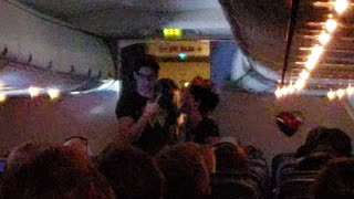 Whole Plane Join in to Celebrate Newlywed Couple
