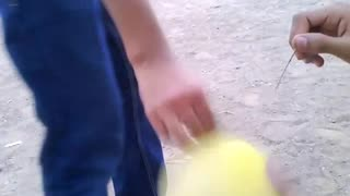 Balloon Bursting experiment by children  - Video