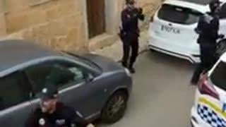Police in Spain entertain quarantined citizens with a lively street performance