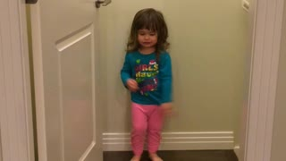 Adorable Two-Year-Old Dancing and Singing Without A Care In The World  - Video