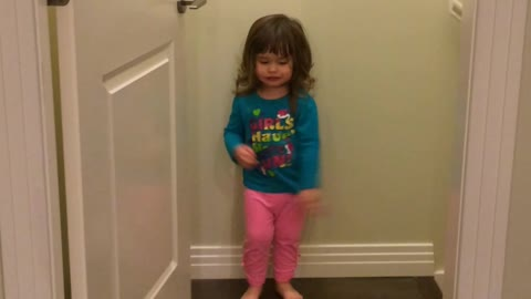 Adorable Two-Year-Old Dancing and Singing Without A Care In The World