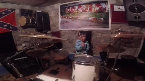 5 years old drummer Mihail,jamming with his friends