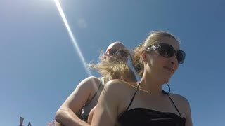Woman Tries to play it cool, But gets a face full of water (GoPro) - Video