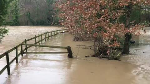 Extreme flooding in Staffordshire completely devastates this garden
