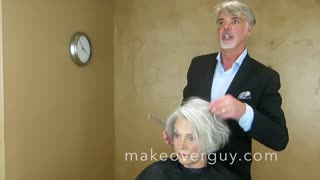 MAKEOVER: Sexy Silver Hair, by Christopher Hopkins,The Makeover Guy® - Video