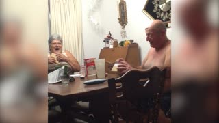 Grandparents Get Promoted To Great Grandparents With Clue Box - Video