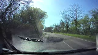 Narrowly Avoided Head on Collision - Video