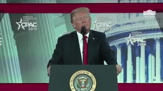 "Trump at CPAC: ""We salute our great American flag"" - Video"