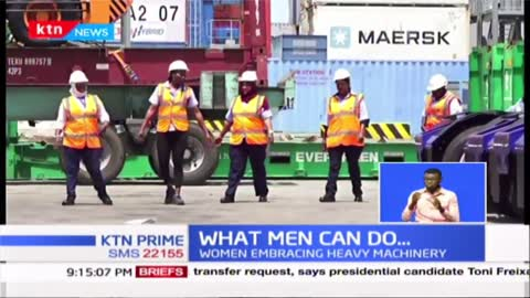 Women embracing heavy machinery which is mainly a male dominated sphere