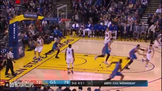Russell Westbrook Was SHAQTIN' with 6-Step Traveling Violation vs Warriors - Video