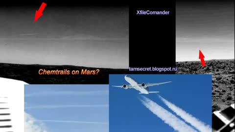 Chemtrails or vaporization of engines in the atmosphere of Mars