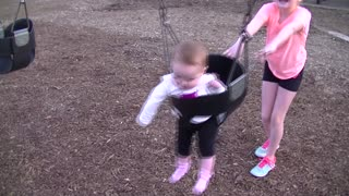 Baby's First Swing Ever! Part 2 of 2