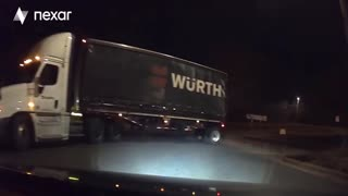 Truck pulls out in front of me