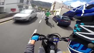 Yamaha WR125X (x2) & DT125R (x1) DT125R SM (x2) || GoPro Hero3+ || Part 1 || Madeira Island - Video