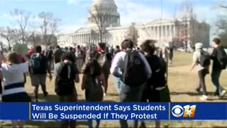District Will Suspend Kids Who Leave to Protest FL Shooting - Video