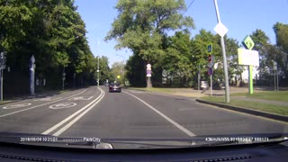 Motorcylist Struck and Flipped Over Car - Video