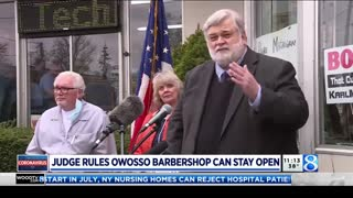 Michigan barber wins against state to keep business open