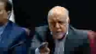 Iran's oil minister speaking about corruption in Iran