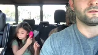 A Girl Cry Because of His Father