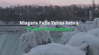 Brutal Winter Makes Frozen Niagara Falls into Work of Art - Video