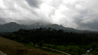 Beautiful Time lapse of Clouds and Mountains in Wayanad.