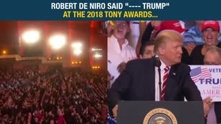 "Robert De Niro said ""---- Trump"" at the 2018 Tony Awards - Video"