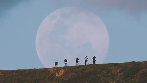 Photographers capture massive supermoon rising in New Zealand