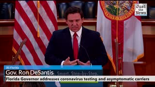 Florida Governor addresses coronavirus testing and asymptomatic carriers