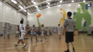 Kid Throws Full Court Shot in Basketball Game - Video